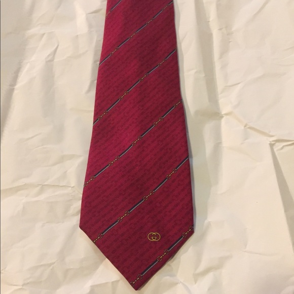 a4b68cd25ddc Gucci Other - Men s Accessories  Red Gucci Tie With GG Logo On.